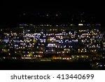 blurred city lights background  ...   Shutterstock . vector #413440699