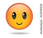 happy yellow round emoticon...   Shutterstock .eps vector #413449318