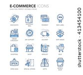 simple set of e commerce... | Shutterstock .eps vector #413454100