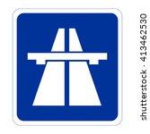 motorway. highway sign | Shutterstock .eps vector #413462530