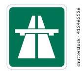 motorway. highway sign | Shutterstock .eps vector #413462536
