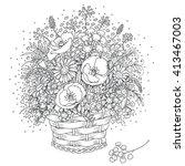 Hand Drawn Bouquet Of Wild...