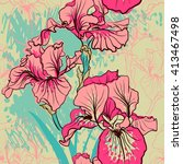 seamless pattern with... | Shutterstock .eps vector #413467498