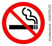 no smoking  prohibition sign ... | Shutterstock .eps vector #413470123