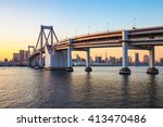 tokyo skyline view from odaiba. | Shutterstock . vector #413470486