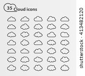 big set of thirty five cloud... | Shutterstock . vector #413482120