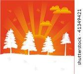vector composition of orange...   Shutterstock .eps vector #41349421