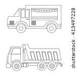 truck design. transportation... | Shutterstock .eps vector #413497228