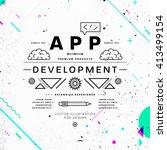 app development typographic... | Shutterstock .eps vector #413499154