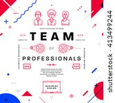 team typographic label concept. ... | Shutterstock .eps vector #413499244