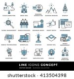thin line icons set. business... | Shutterstock .eps vector #413504398