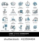 thin line icons set. business... | Shutterstock .eps vector #413504404