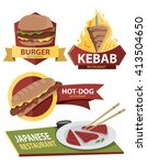 restaurant label collection ... | Shutterstock .eps vector #413504650