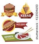 restaurant label collection ... | Shutterstock .eps vector #413504650