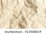brown crumpled paper texture.   Shutterstock . vector #413508619