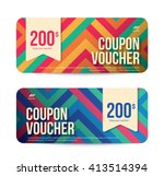 template gift voucher coupon... | Shutterstock .eps vector #413514394