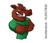 boar man | Shutterstock .eps vector #413517820