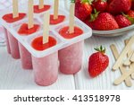 homemade popsicles with...   Shutterstock . vector #413518978