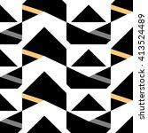black orange arrow triangle... | Shutterstock .eps vector #413524489