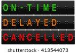 airport split flap board with... | Shutterstock . vector #413544073
