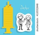 vector set of doctors | Shutterstock .eps vector #413552848