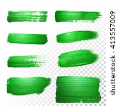 vector green watercolor glitter ... | Shutterstock .eps vector #413557009