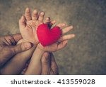 old hand of the elderly and a... | Shutterstock . vector #413559028
