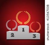 winners podium  background...   Shutterstock . vector #413567038
