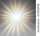 vector transparent sunlight... | Shutterstock .eps vector #413568958