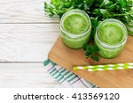 Healthy Green Smoothie In A...