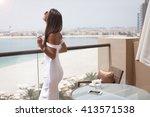 Luxury Travel Vacation Woman Champagne - Fine Art prints