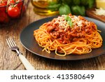 Delicious spaghetti served on a ...