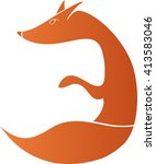animal fox logo print   Shutterstock .eps vector #413583046