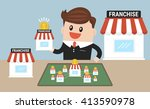 businessman want to expand his... | Shutterstock .eps vector #413590978