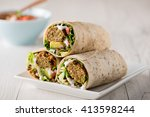 vegetarian falafel wraps with...