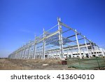 the construction of steel... | Shutterstock . vector #413604010