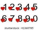 arabic numerals with hearts... | Shutterstock . vector #41360785