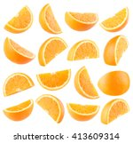 Collection Of 16 Orange Slices...