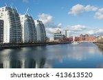 tall modern apartment buildings ... | Shutterstock . vector #413613520