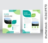eco green vector annual report... | Shutterstock .eps vector #413619970