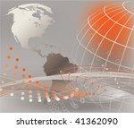 abstract world globe... | Shutterstock .eps vector #41362090