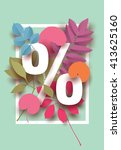 spring  summer discount card...   Shutterstock .eps vector #413625160