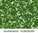 field of green grass with... | Shutterstock . vector #413628268