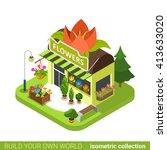 florist shop flower shape... | Shutterstock .eps vector #413633020