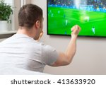 goal  man watching football... | Shutterstock . vector #413633920