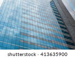 modern business skyscapers ... | Shutterstock . vector #413635900