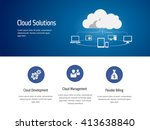 cloud computing  technology... | Shutterstock .eps vector #413638840