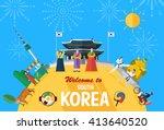 flat design  illustration of... | Shutterstock .eps vector #413640520