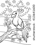 coloring pages. birds. little... | Shutterstock .eps vector #413641600
