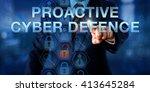 investigator is touching... | Shutterstock . vector #413645284
